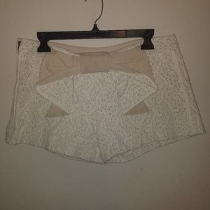 Judith March Lace Large Bow Shorts